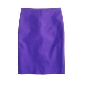NWT J.Crew No.2 double serge cotton pencil skirt